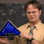 "Triangle Tablet, as satirized on ""The Office"", could actually be a reality"
