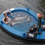 HotTug is a jacuzzi in a boat