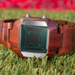 TokyoFlash combines earth and extraterrestrial for the Kisai Space Digits Wood LCD watch
