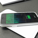 The Slimo iPhone Charging System removes cables from the equation