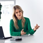 The Sennheiser Speakerphone boosts the sound quality for conference calls