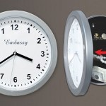 This Silver Wall Clock holds the mystery of time…and all your junk