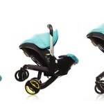 The Doona Car Seat transforms into a stroller
