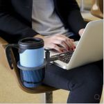 Laptop Beverage Holder lets you work while chilling out