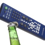 The Clicker 2-in-1 Remote will open bottles and change the channel