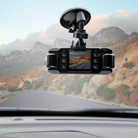 Front And Rear Roadtrip Recorder makes sure that you have both ends covered