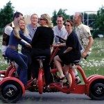 The Seven Person Tricycle – must shed pride to ride