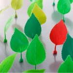 These Magnetic Leaves will plant reminders all over your fridge