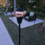 Mosquito Repelling Flameless Torches lets you hang out in your garden with peace of mind