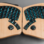 The Model 01 Keyboard is shaped like a butterfly, clicks like a mechanical