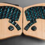 The Model 01 Keyboard is shaped like a butterfly, clicks like a mechanical