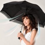 The Rurudo Fan Shade keeps you safe come rain or shine