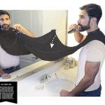 The Beard Bib keeps trimmings off your bathroom counter