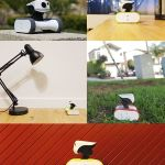 Riley is a cute home monitoring robot