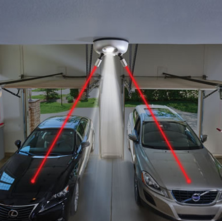 Garage Gadgets laser guided parking attendant should avoid unwanted scratches and