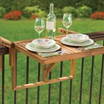 Instant Wooden Deck Table lets you set up a picnic, anytime, anywhere