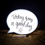 Speech Bubble Light Box brings comic relief to the room