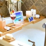 This Royal Craft Wood Bathtub Caddy will make your life picture perfect