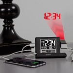 This Projection Alarm Clock will keep you constant when traveling