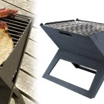 "Portable ""Notebook"" BBQ Grill goes anywhere"