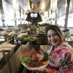 Samurai robots serve humans in Hajime restaurant, Thailand