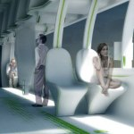 Train interior concept can retract seats