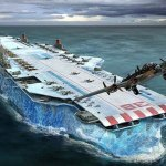 This concept aircraft carrier is mostly made of ice