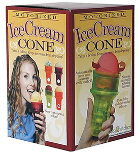 Motorized Ice Cream Cone