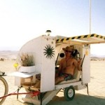 Burning Man Spectator creates micro house for the bike