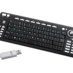 USB 2.4Ghz RF Wireless Tiny Keyboard With Trackball
