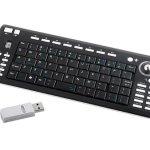 USB 2.4Ghz RF Wireless Tiny Keyboard With Trackball