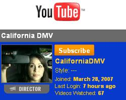 California DMV at YouTube