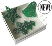 Circuitboard Ornament Set