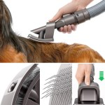 Dyson Groom Brush cleans up hair as you brush