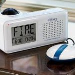 Lifetone Bedside Fire Alarm Clock
