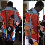 Dave Forbes' LED-TV Lab coat set for Burning Man