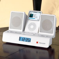 iHome2Go Folding iPod Alarm Clock