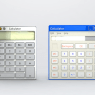 Real calculators designed to resemble your desktop calculators