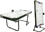 Space Saving Air Hockey Table Folds Away After Play