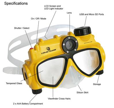 Dive Mask Camera