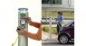 Electric vehicle charging posts implements billing system