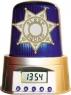 Police Siren Alarm Clock