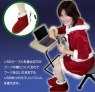 USB Santa booties keep your feet warm