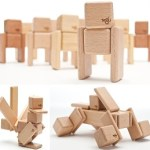 Tegu uses both wooden blocks and magnets