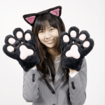 Hot Cat Gloves by Thanko