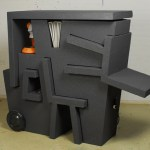 Portable office for the easily movable workspace