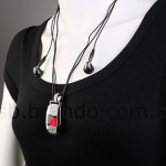 The USB Jewel Square Necklace MP3 Player