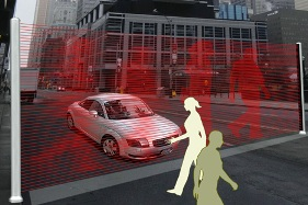 Virtual Wall Stops Traffic