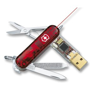 Swiss Army's 32GB Laser Pointer is ideal for the corporate jungle.