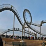 Walkable roller coaster is literally a work of art